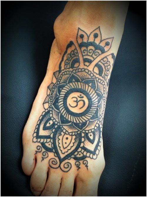 7c4910370 10 Devotional Om Tattoo Designs | tattoos | Mandala tattoo design ...