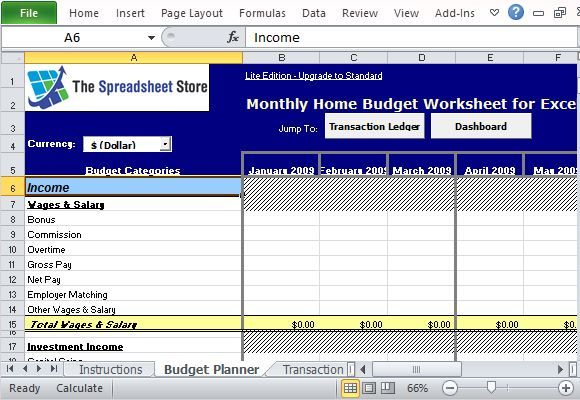 monthly family income tracker template for excel word templates