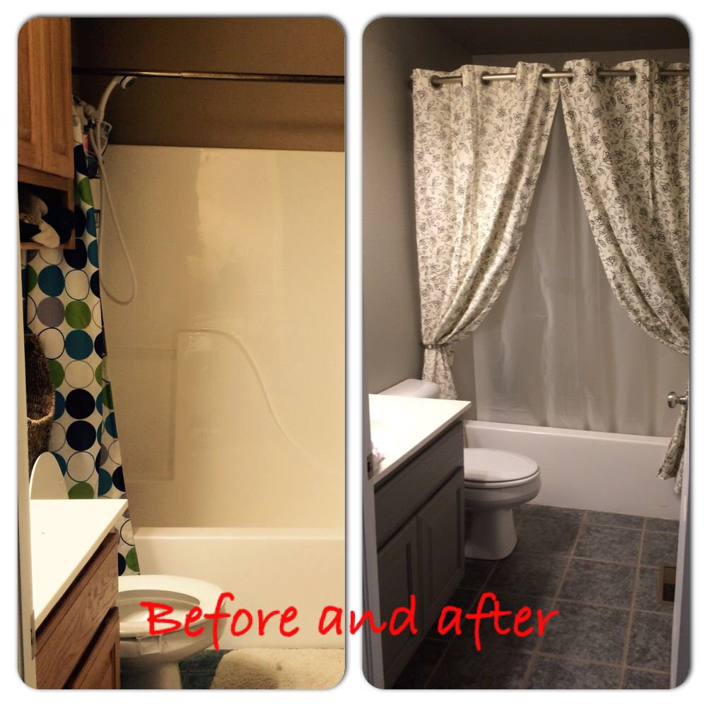 Simple bathroom update remove upper cabinet paint and