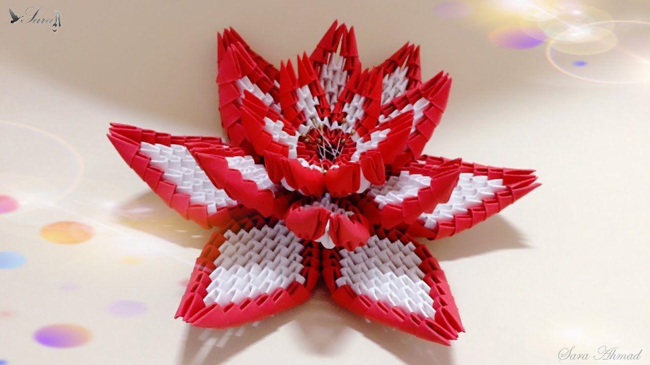 How To Make 3d Origami Flower 4 3d Origami Pinterest 3d