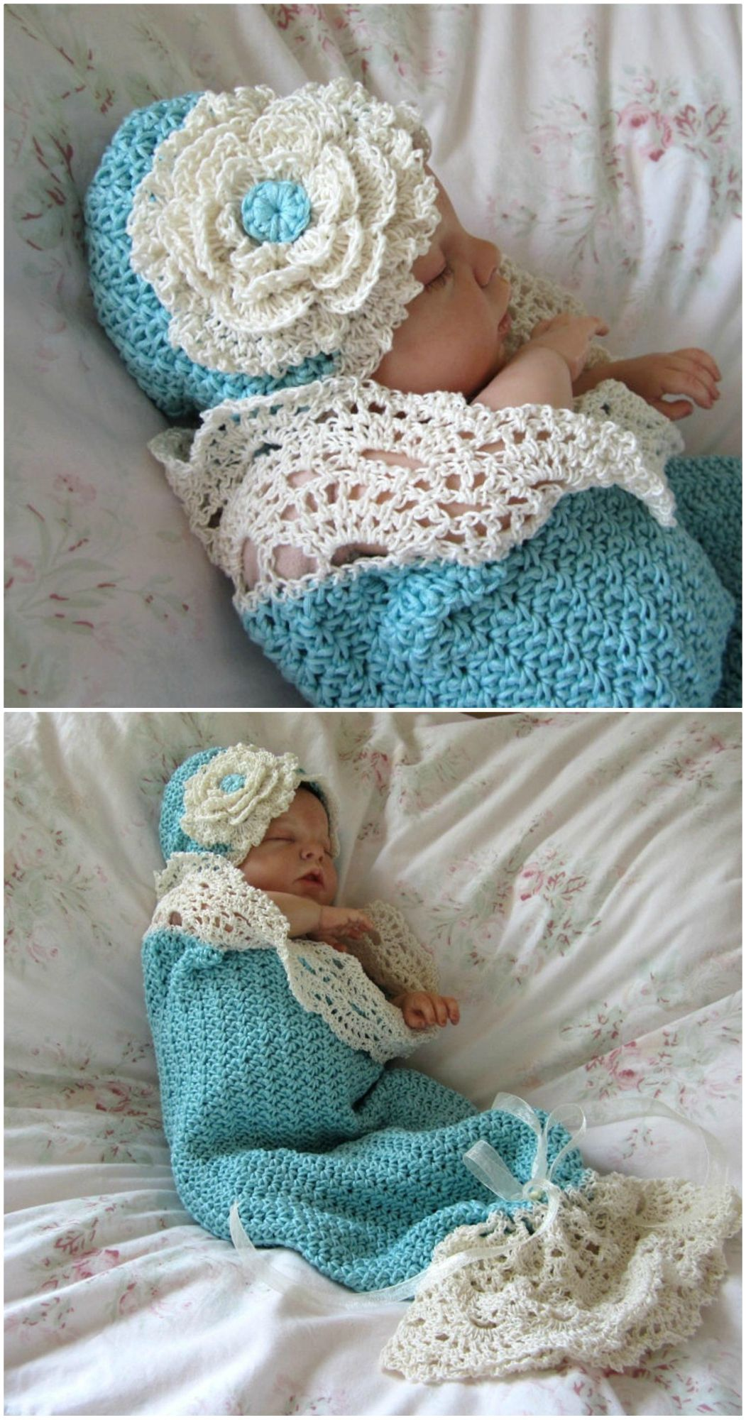 Crochet Baby Cocoon With Hat The Best Collection #crochetbabycocoon