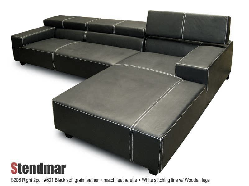 Welcome To Stendmar Com 2pc Modern Leather Sectional Sofa Set