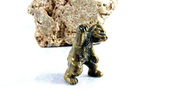 Bear Figurine  Vintage Brown Bear Figurine   by VintageLittleGems