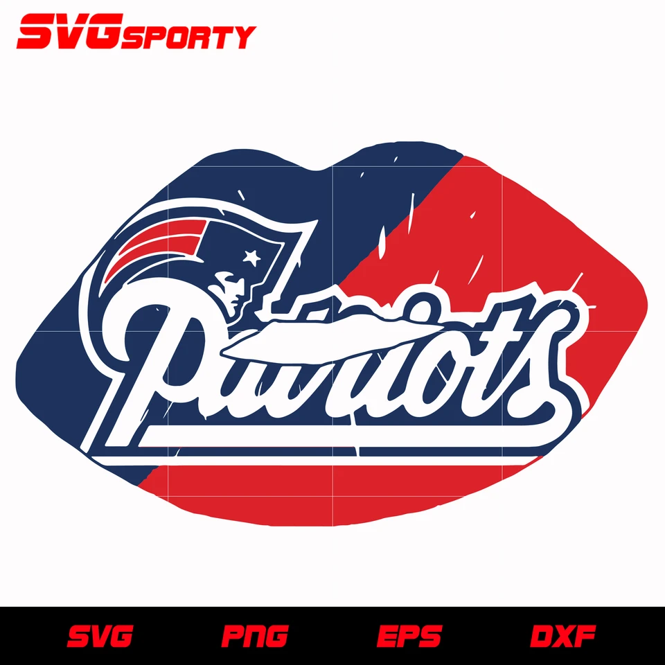 New England Patriots Lip Svg Nfl Svg Eps Dxf Png Digital File In 2020 Cute Poster New England Patriots Patriots