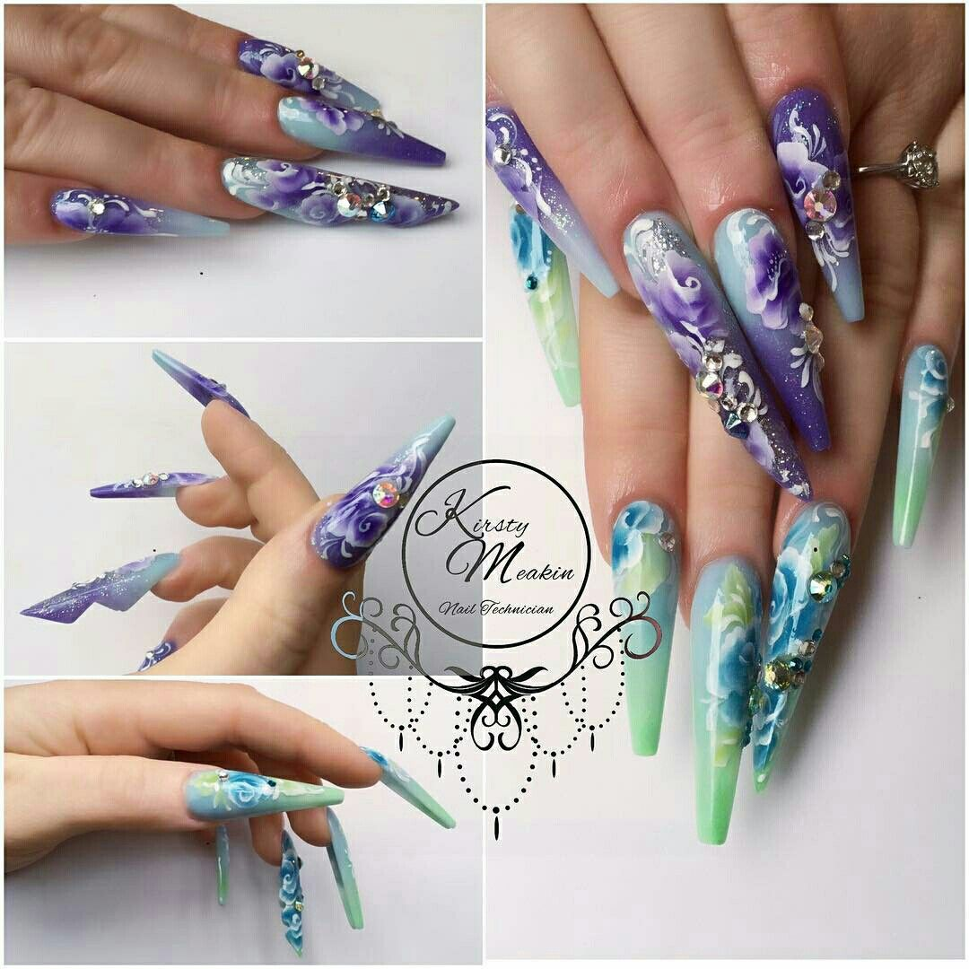 Pin by Manna Antonenko on Dragon/Butterfly wing nails