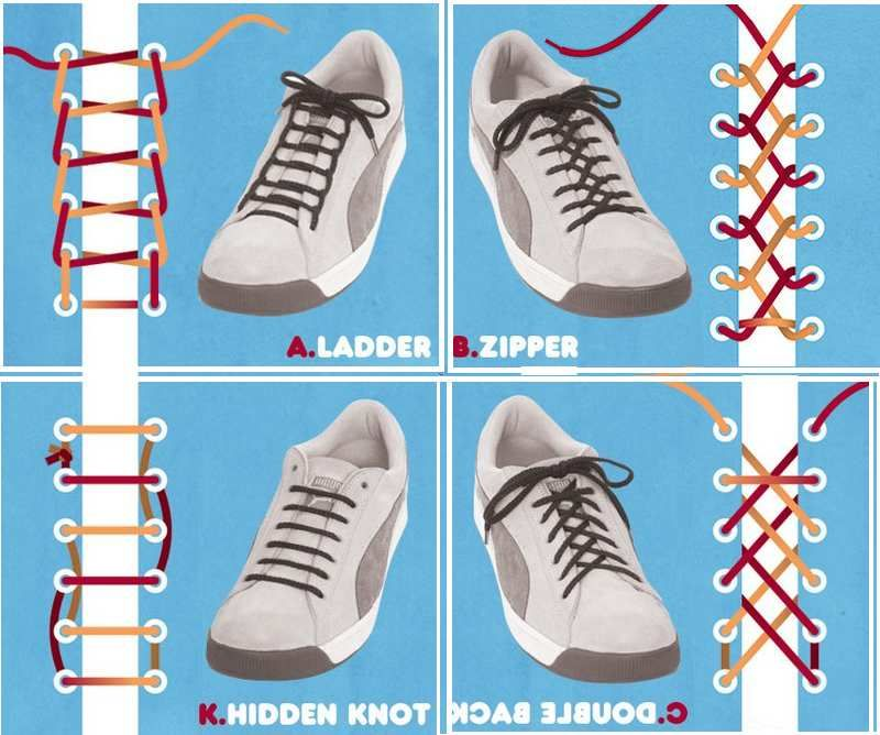 lacer ses chaussures Life For Hack | Chaussure, Lacets