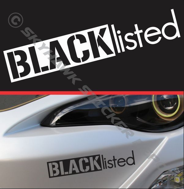 Blacklisted Sticker