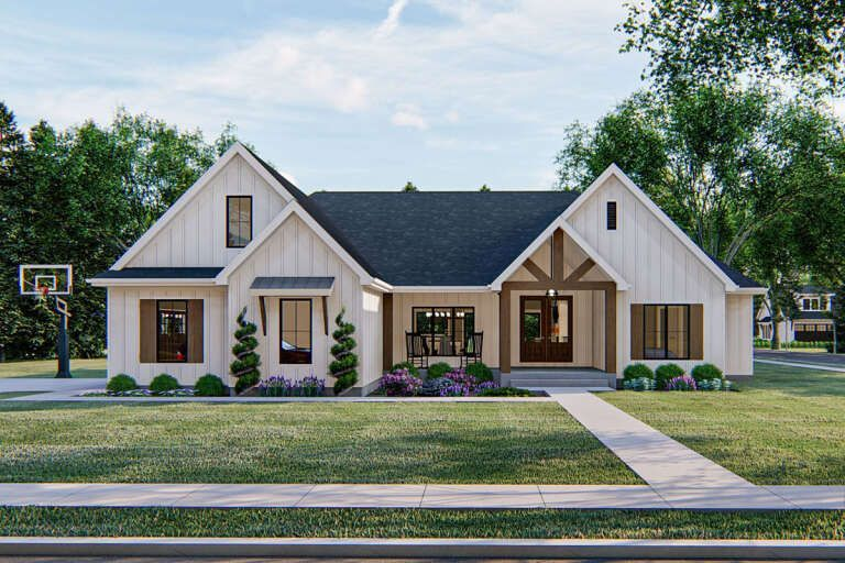 House Plan 963 Modern Farmhouse Plan 2 309 Square Feet 4 Bedrooms 3 5 Bathrooms