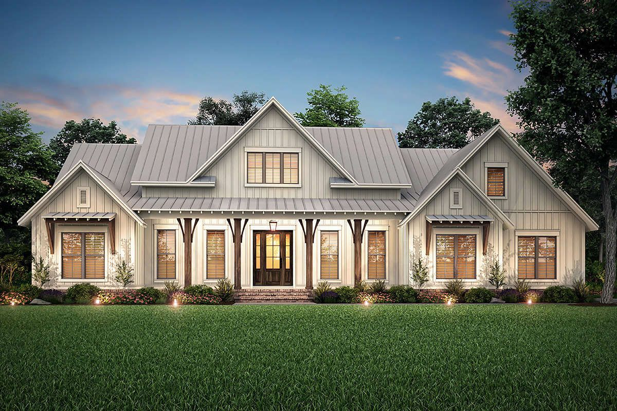 House Plan 041-00206 - Modern Farmhouse Plan: 2,553 Square ...