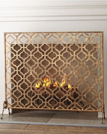 Lexington Single Panel Fireplace Screen Fireplace Screens Decorative Fireplace Screens Fireplace Decor