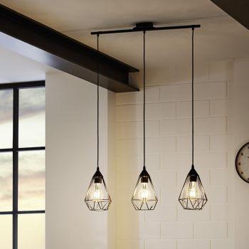 Pendelleuchte E27 Küche kupferfarbig Metall Modern Wohnzimmer