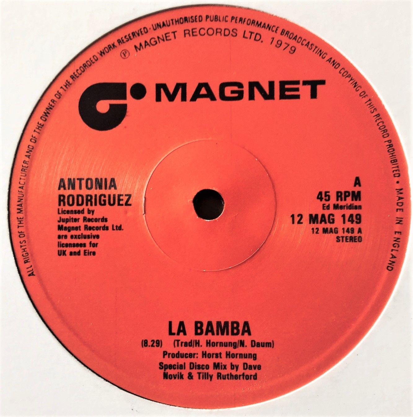 Antonia Rodriguez La Bamba 12 Vinyl 45rpm Vinyl La Bamba