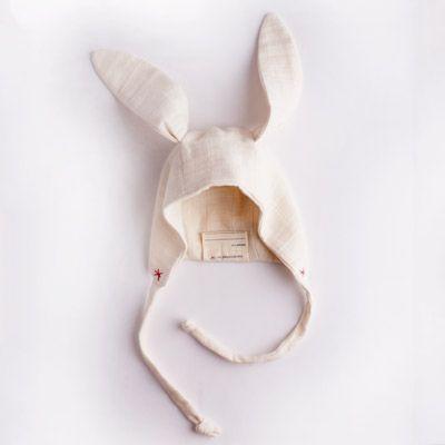 bunny eared baby bonnet. so cute!