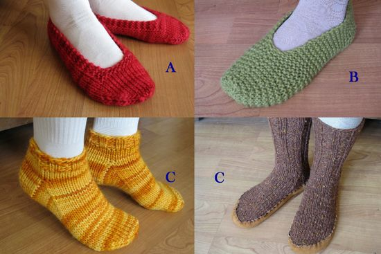 Easy slipper patterns. | Knitting socks, Crochet slippers ...