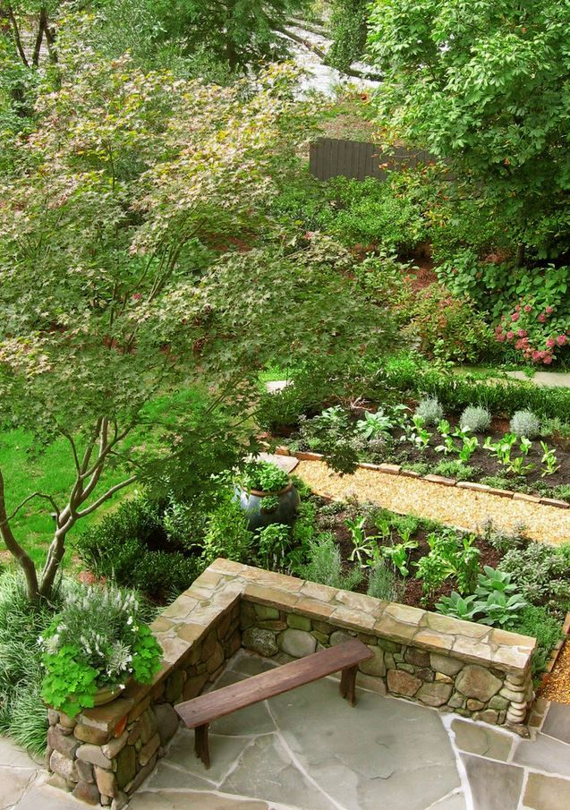 Vegetable Garden Integrated Into Landscaping