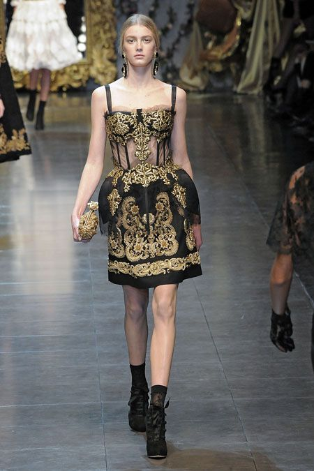 Inspiração Barroca - Dolce   Gabbana   Runway x Street ♥ cf3fe82aa1