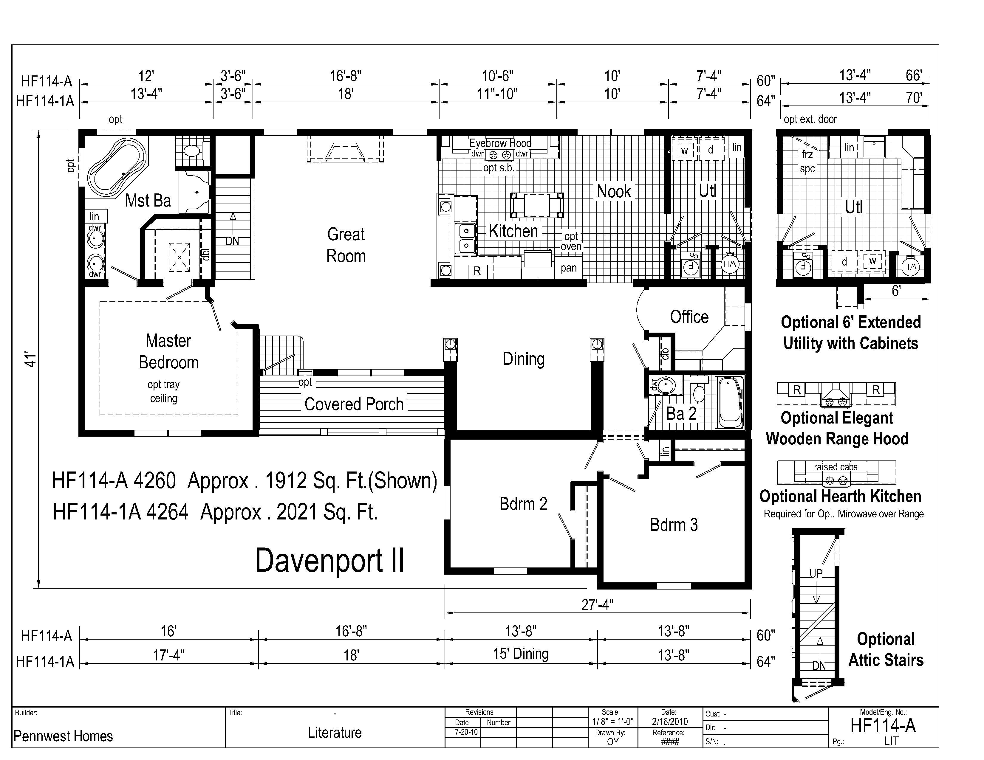 Davenport Ii Hf114a Pennwest Ranch Modular Modular Home Floor Plans West Home Finding A House