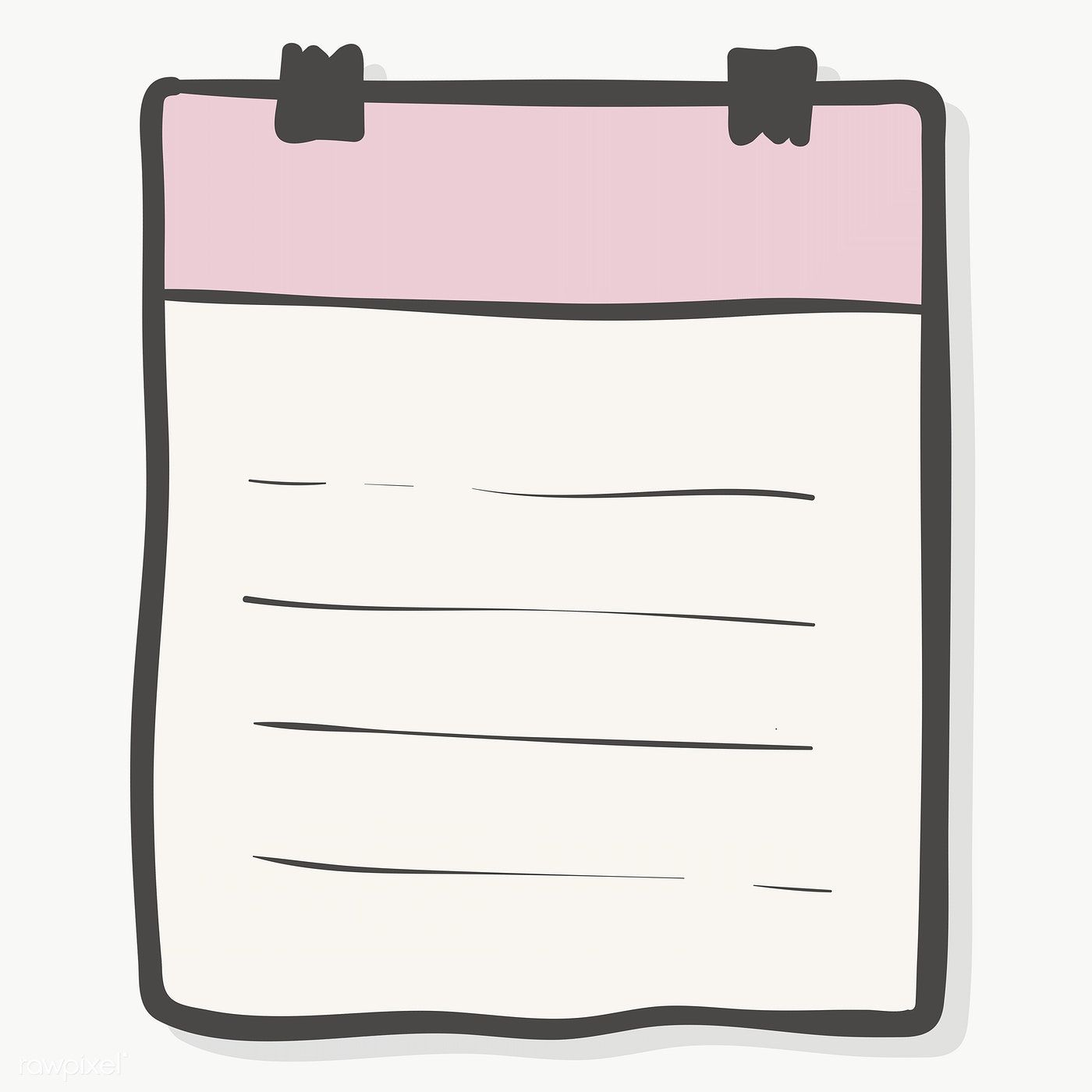 Blank Lined Paper Note With Binder Paper Clips Transparent Png Free Image By Rawpixel Com Chayanit Note Paper Free Paper Printables Binder Paper