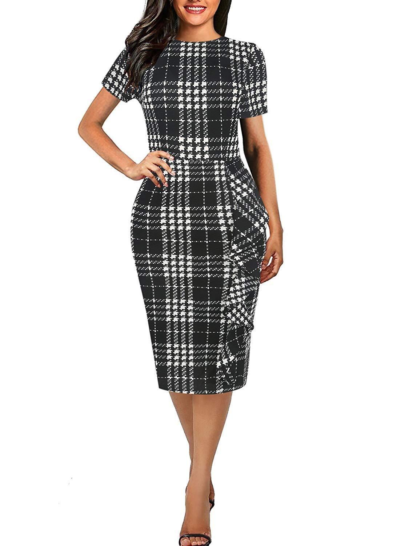 e4e56006d383 Women's Vintage Short Sleeve Slim Fit Pencil Dress in 2019 | Dresses ...