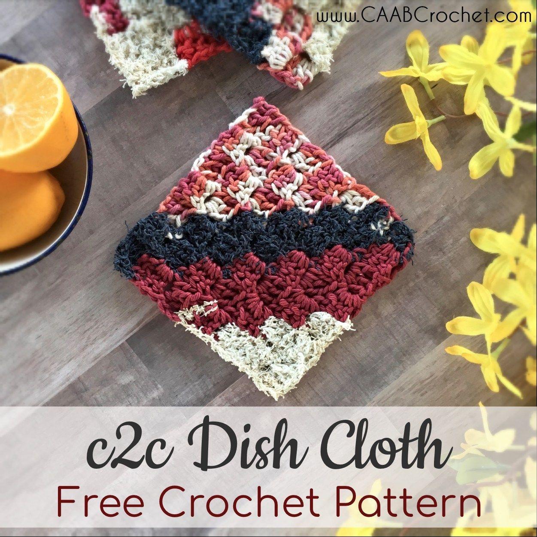 c2c Dish Cloth Pattern | banana dishcloth | Crochet ...