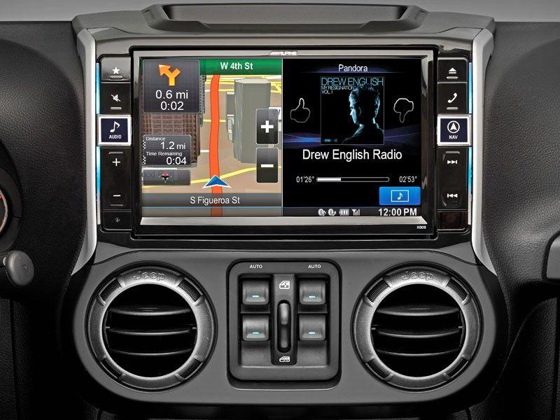 Alpine X009 Wra Jeep Wrangler In Dash Restyle System Jeep Wrangler Interior Jeep Wrangler Unlimited Jeep Wrangler Accessories