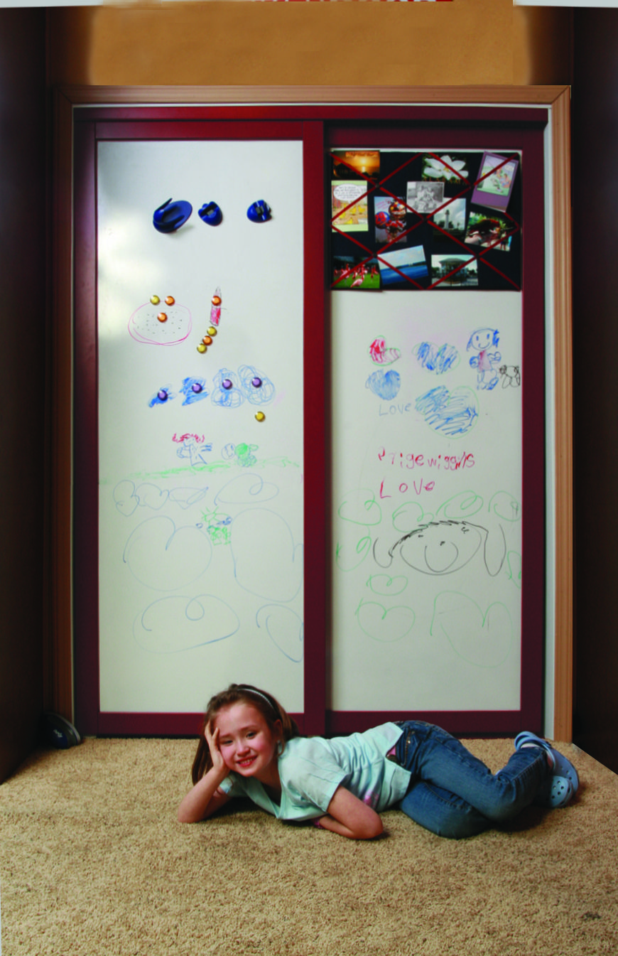 Magnetic Dry Erase Board Closet Doors Cabinet Door Make