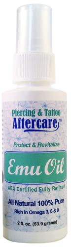 2 oz Piercing & Tattoo Aftercare Emu Oil $14.99 | Emu oil ...