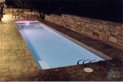 Lap Pool Fiberglass With Images Lap Pools Backyard