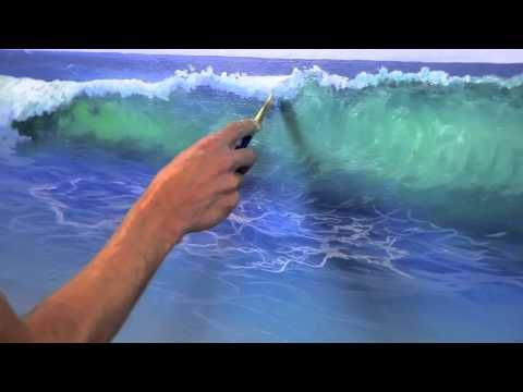 How To Paint Water On A Beach Mural Joe Youtube Very