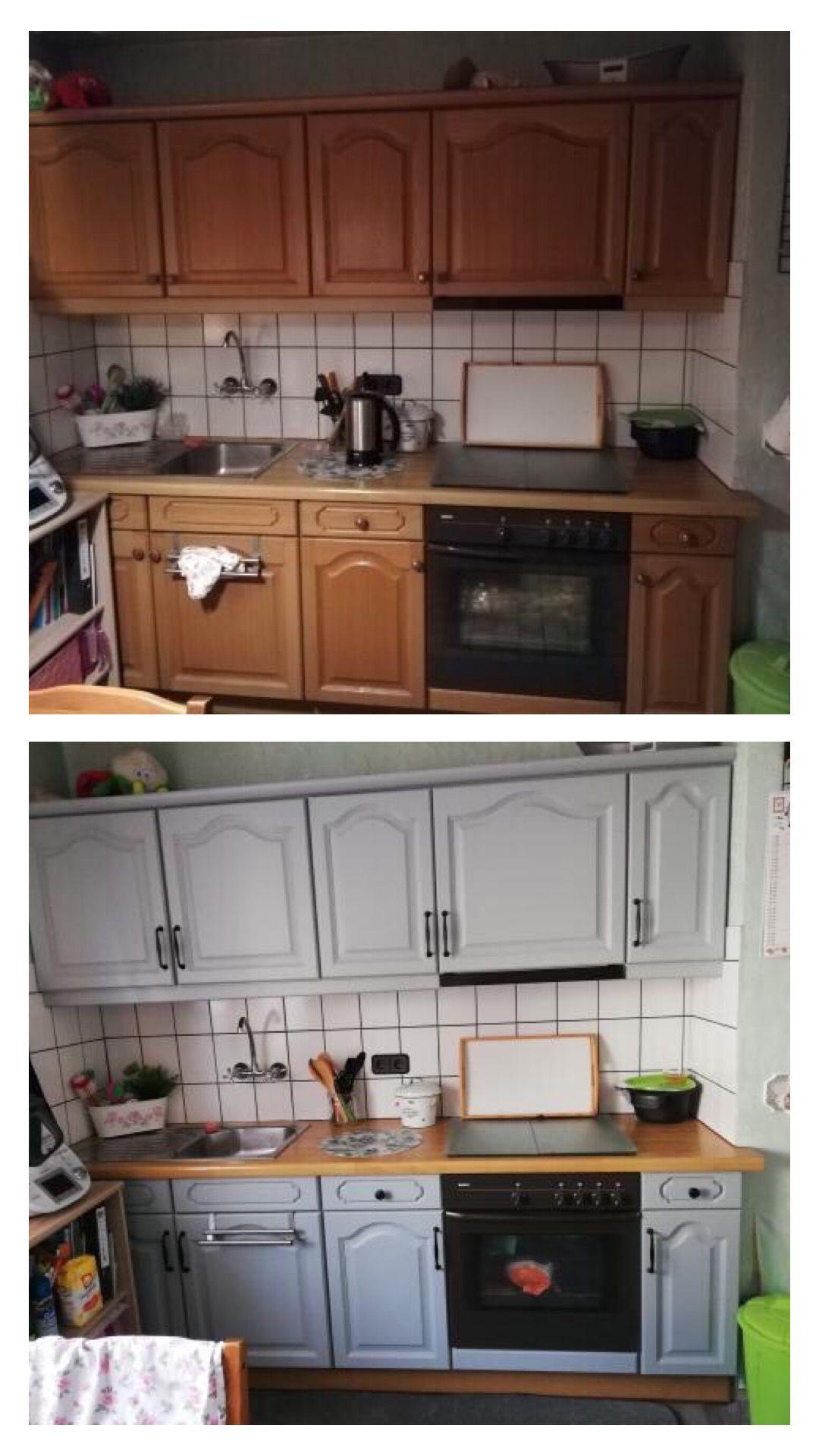 Kuche Streichen Mit Kreidefarbe Und Kreidelacken Misspompadour Kuchen Streichen Kuche Neu Streichen Kuchenumgestaltung