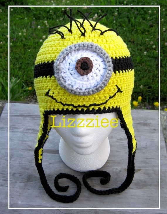 Despicable Me Minion Hat Pattern Crochet hat PDF by lizzziee, $3.99 ...