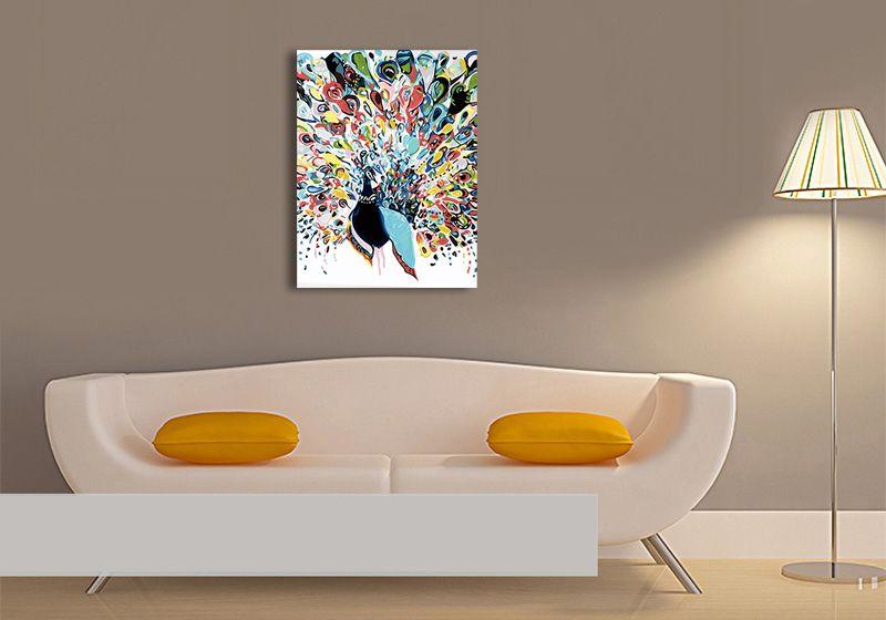 malen nach zahlen leinwand vorlage motiv pfau abstrakt home decor decals moderne skulpturen plastik und skulptur