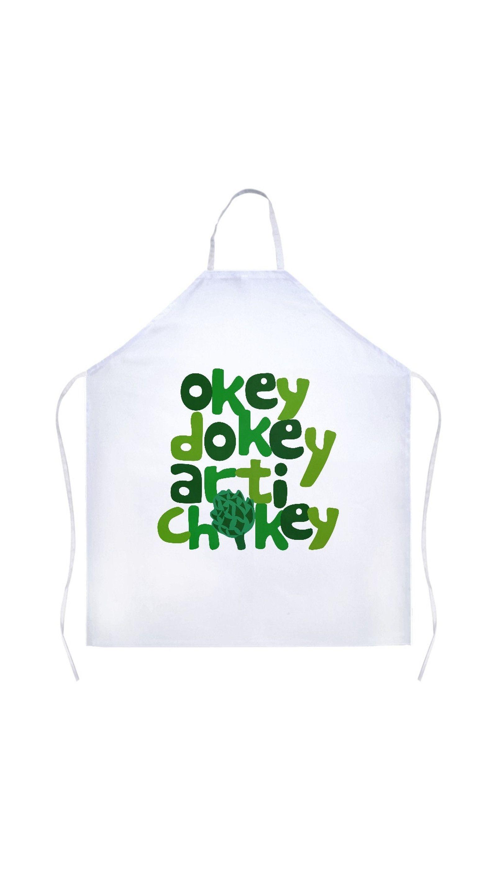 White apron chef fresno - Okey Dokey Artichokey Apron