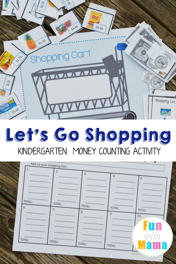 Worksheets Money Games For Preschool grocery shopping money counting activity activities math activity