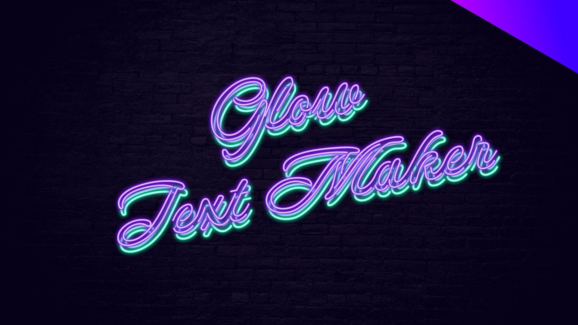 Create cool glow neon text logo glow neon logo text