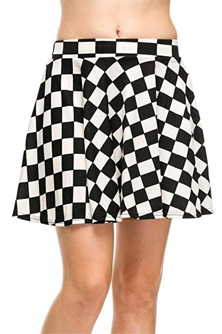 4ef51e5647 Skater Skirt for Women Short Stretch Flared Skirts Elastic Waistband Made  in USA at Amazon Women's Clothing store: