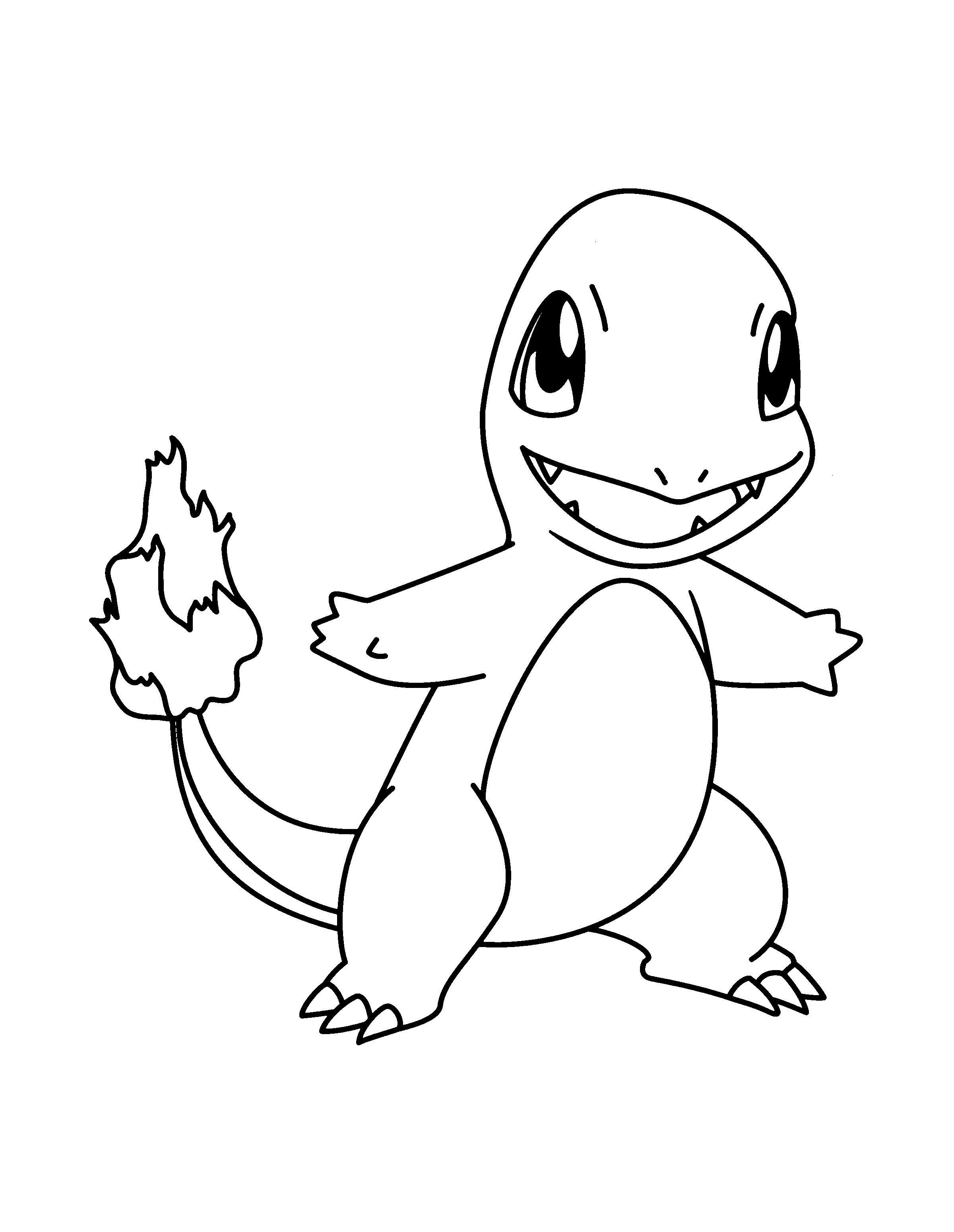 Coloriage Pokemon Salameche
