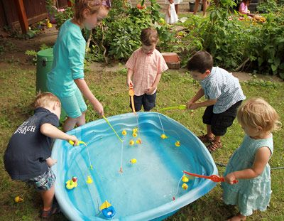 Gonefishing1 outdoor fun activity for toddlers myles 39 s for Garden pool party 2015
