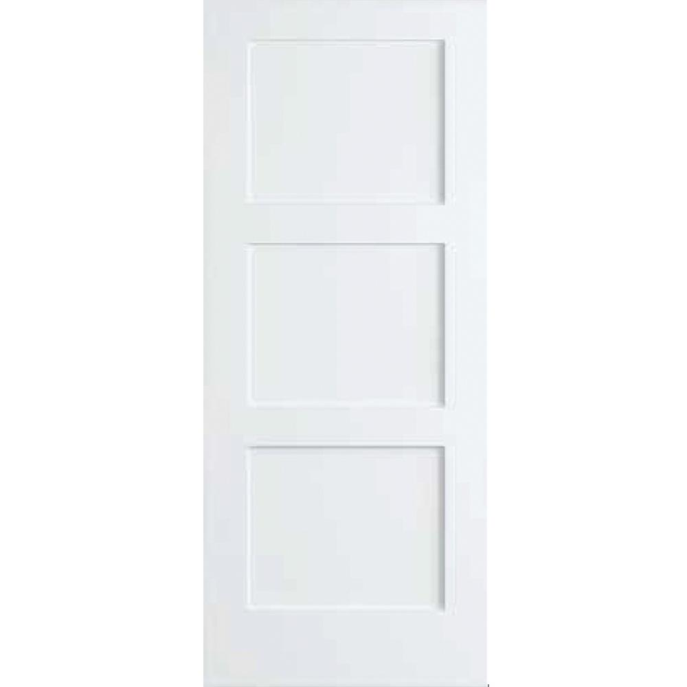 Kimberly Bay 28 In X 80 In White 3 Panel Shaker Solid Core Wood Interior Door Slab Dpsha3w28 The Hom In 2020 Doors Interior Pine Interior Doors Wood Doors Interior
