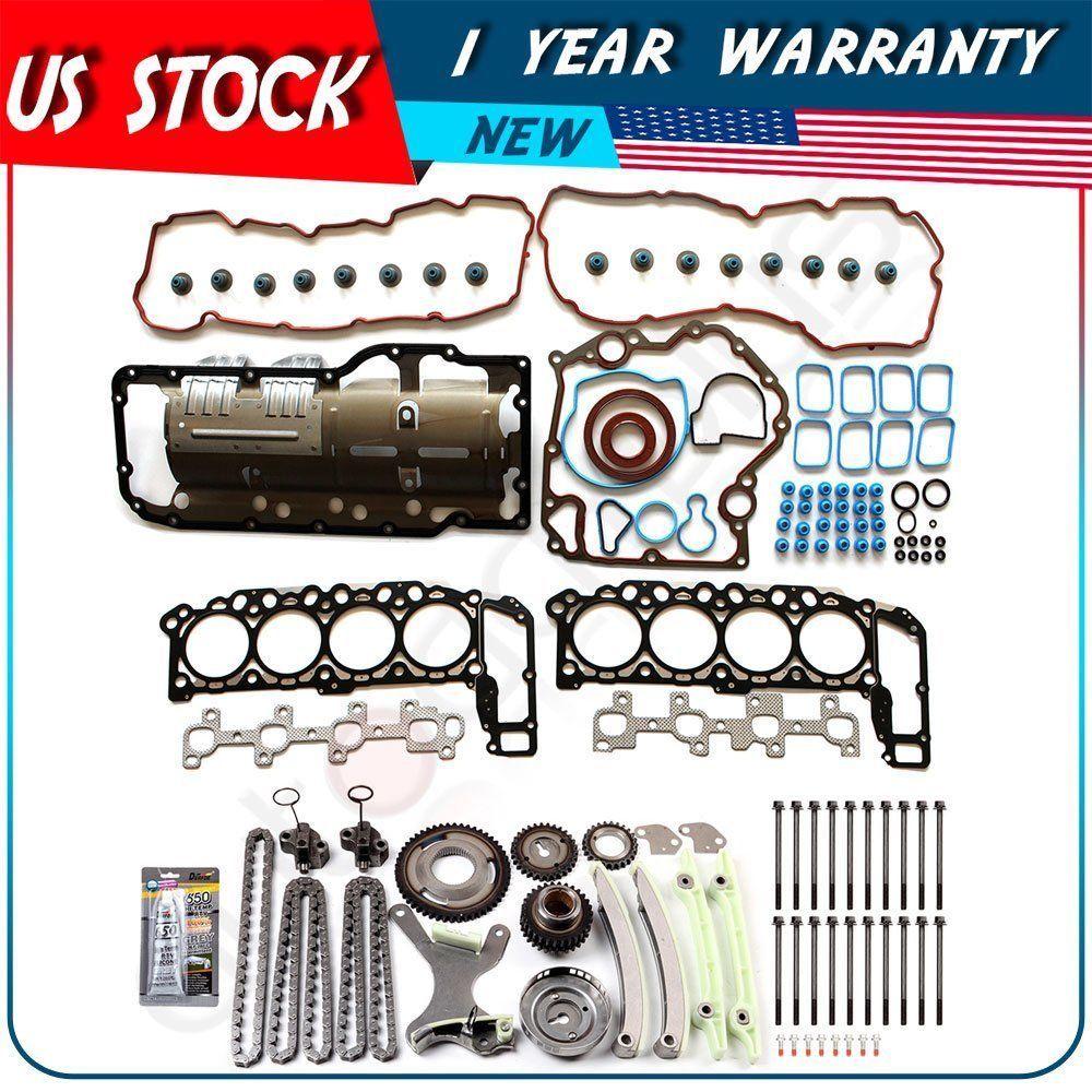 Fit 04 07 Dodge Ram Mitsubishi 1500 4 7l Timing Chain Kit Head Gasket Bolts Set Parts And Accessories Dodge Ram Mitsubishi