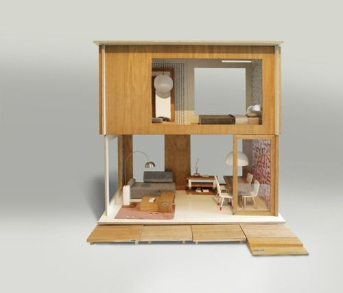 design in poland modern dollhouse by minjio oh yes i want one of - Wooden Dollhouses Designs
