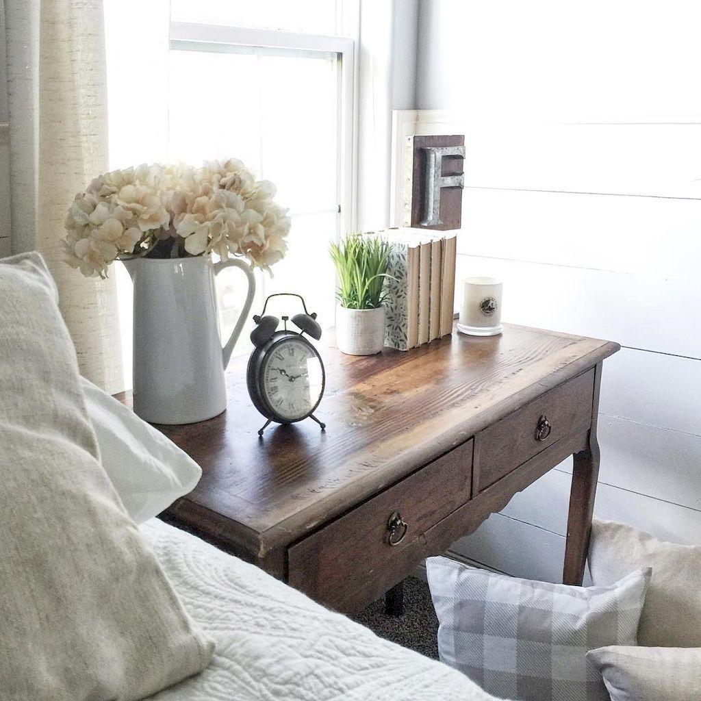 Master bedroom nightstand decor   Stunning Small Master Bedroom Ideas  Farmhouse bedroom decor