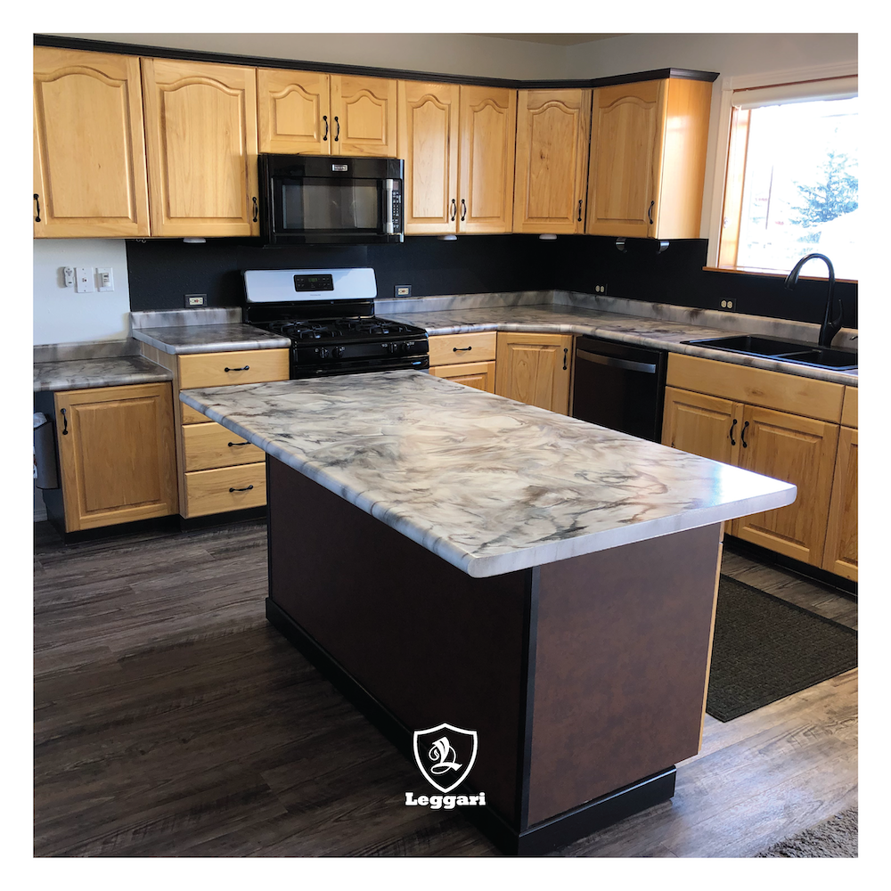 This Kitchen The Countertop Was Done By Jordan With Jts