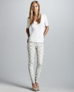 seven for all mankind lace skinny jeans.. oh yes please