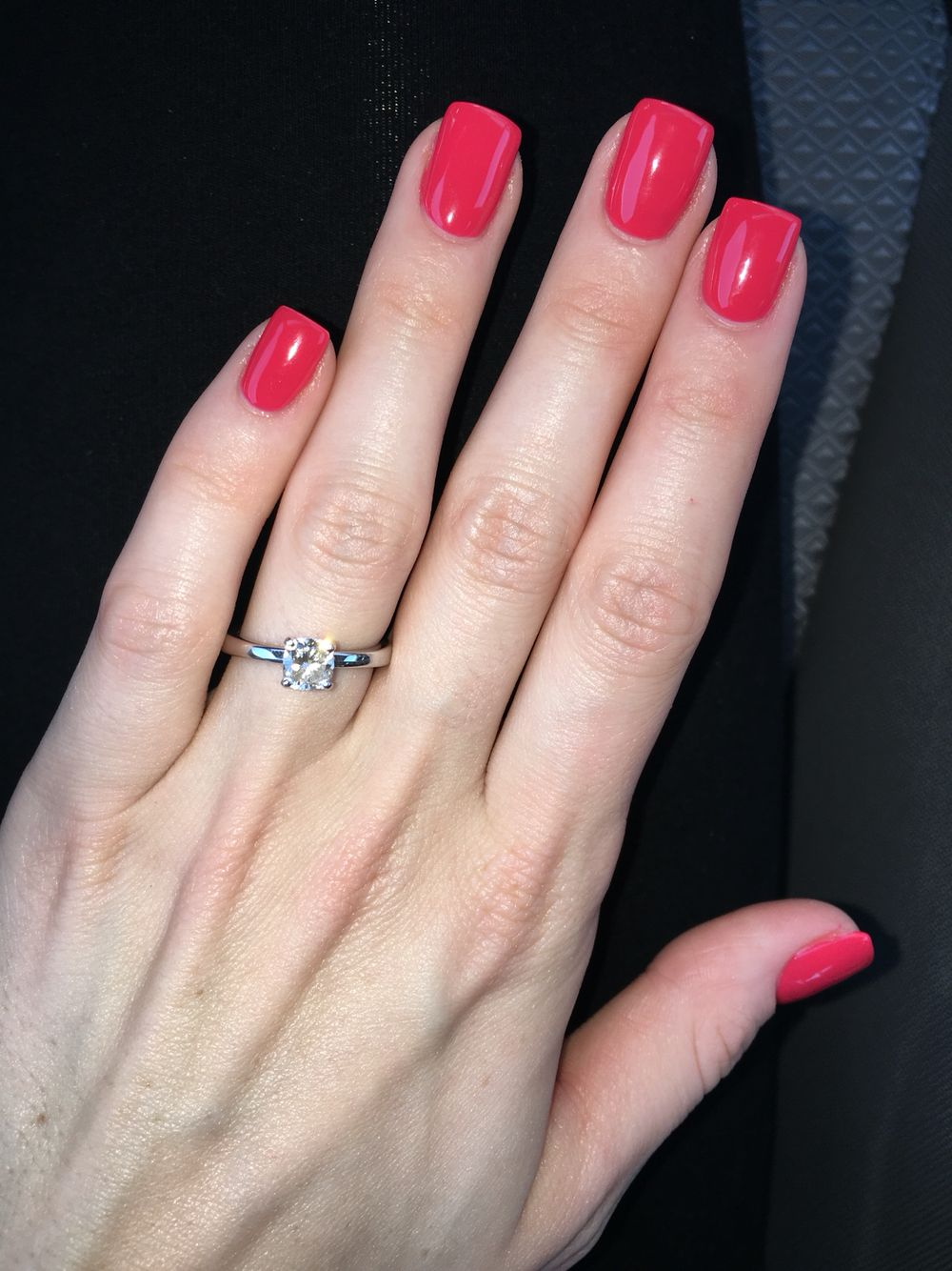 OPI Gel Nails and Cushion Cut Engagement Ring | Nails | Pinterest ...
