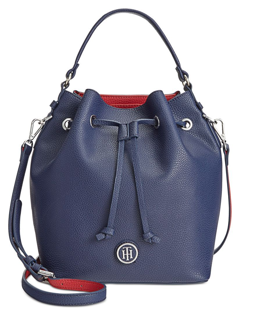 1590c810b Tommy Hilfiger Mara Double-Sided Drawstring Bucket Bag | Products ...