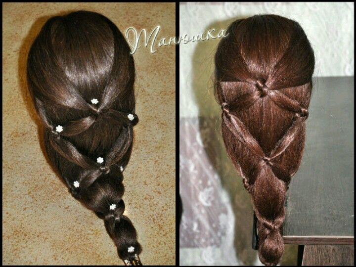 simple veiled hairknots