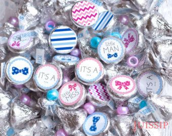 Who doesnt like chocolate candies? Make Hershey Kisses at your party extra special! These round easy to peel off stickers are designed to fit perfectly at the bottom of Hershey Kiss candies! To order please choose the quantity of stickers you want. Every purchase includes multiple sets of each design:  - Your own phrase here can be changed to any short phrase, for example its a boy, Baby Mark, Happy Birthday. Please write your phrase in the notes to seller. - Stripes - Blue anchor - Thanks…