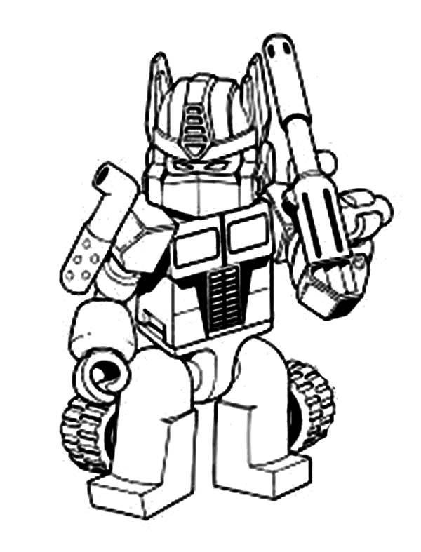 Transformers Oprimus Prime With Bazooka Coloring Page ...