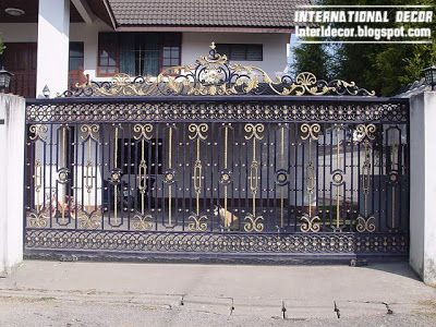 Modern Iron Gate Designs Glided Black Iron Gate Designs With